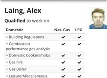 Qualifications on gas safe website