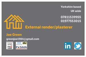 Joe Green External Render/Plasterer