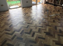 Tri colour herringbone design from Amtico