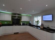Gloss White Handleless Kitchen