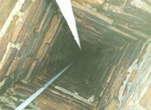 Camera Survey of a brick chimney prior to lining