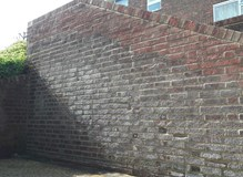 Brick work to a public walkway and steps