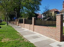 New front wall and railings - Beckenham