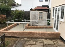 New disabled ramp and pathways