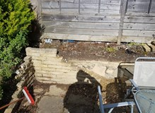 Re-build of retaining wall