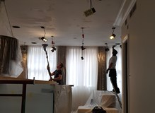 preparing the ceiling for decoration