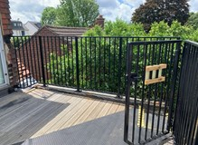 Balustrade & Lockable gate.