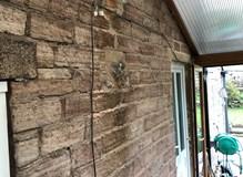 Conservatory walls dryline and skim