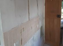 Kitchen knock through and plaster