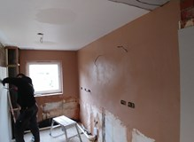 Complete kitchen refurb with wall knock down and making open plan kitchen