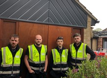 Eurocell cladding, fascia and gutter installation team