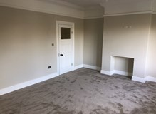 Completed and carpet