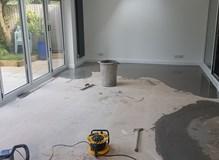 Latex over new concrete floor