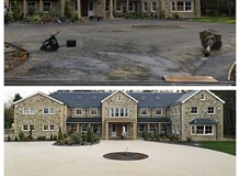 Before and after of an amazing bespoke resin driveway.
