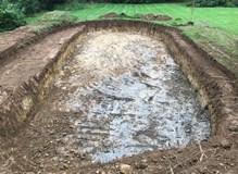 Pond dig finish