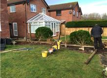 Close Board fencing job in mudeford.