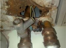 rust hole though boiler casing.  This could have KILLED