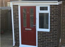 Re-built porch from DPC, Inc new door and window