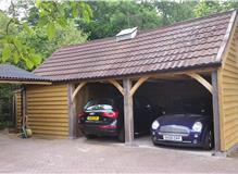 Oak Frame and shiplap garage