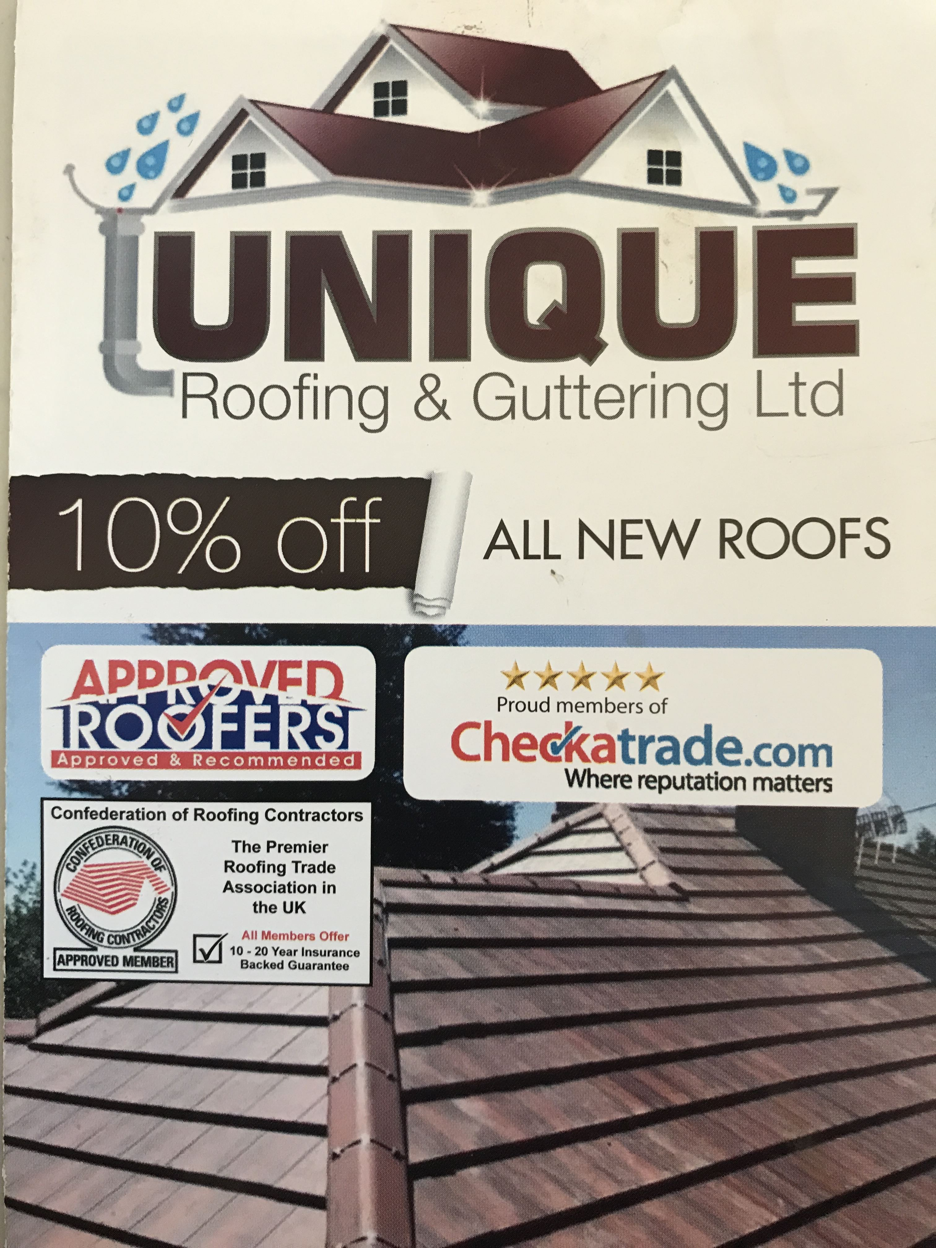 Unique Roofing Guttering Limited Roofer Chessington Checkatrade
