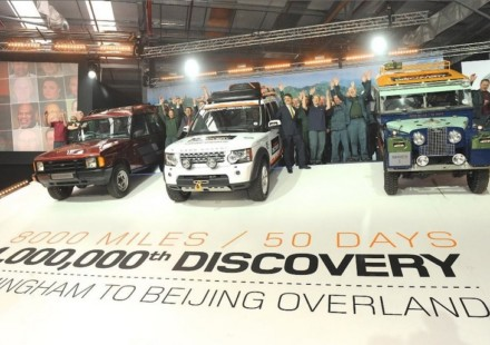 Da Birmingham a Pechino per la Land Rover 1.000.000 per beneficienza