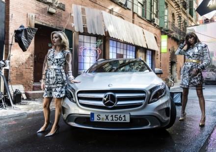 Georgia May Jagger insieme a Mercedes GLA