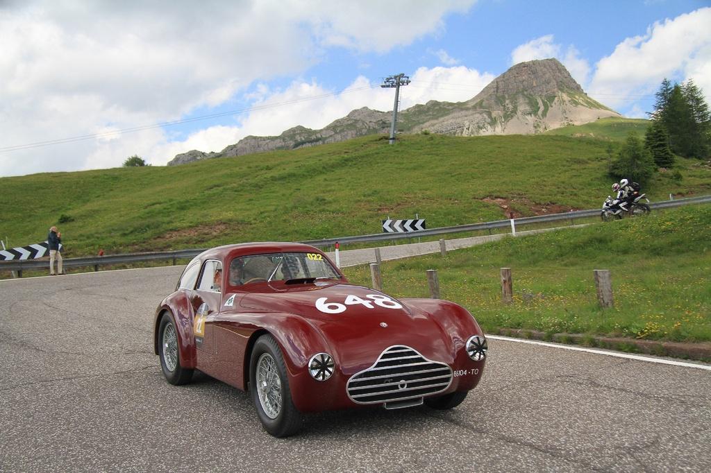 KAUFFMAN e AGUAS su Alfa Romeo 6c 2500 del 1948 - Coppa d'Oro delle Dolomiti