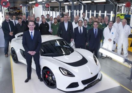 Lotus Exige S numero 1000
