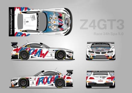 BMW Z4 GT3 Spa Vaillant