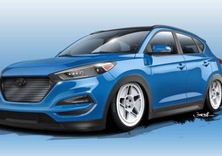 Hyundai Tucson SEMA Sketch