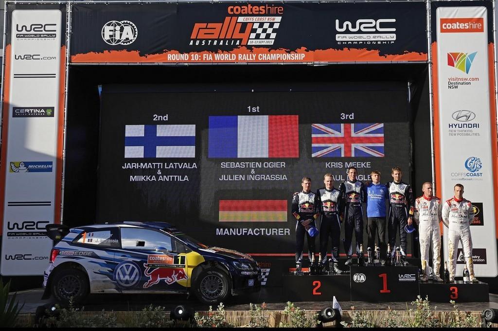 Ogier e Ingrassia WRC 2015 Champion Polo WRC