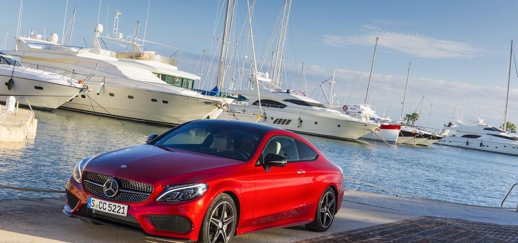 Mercedes Classe C Coupe Rossa Tre Quarti