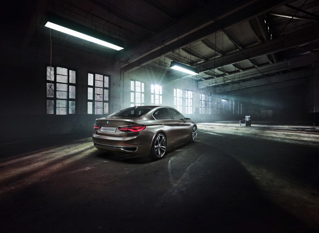 BMW Concept Compact Sedan Tre Quarti Posteriore