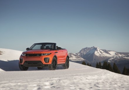 Range Rover Evoque Convertibile Tre Quarti Neve