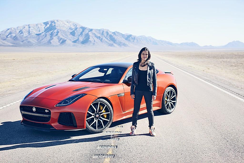 Jaguar F-Type SVR Michelle Rodriguez 2