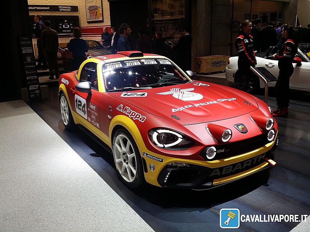 abarth 124 rally: prototipo realizzato dalla squadra corse abarth