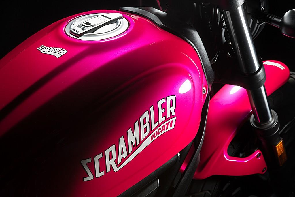 Ducati Scrambler Rosa Shocking Serbatoio