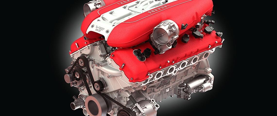 Ferrari 812 SuperFast V12 motore