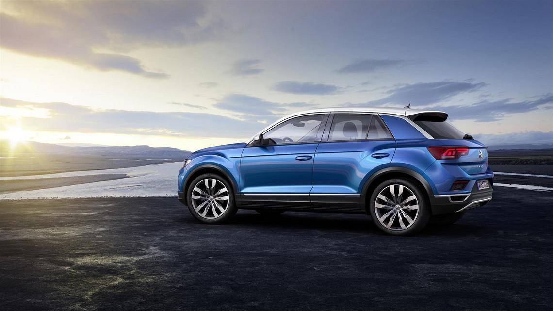 Volkswagen T-Roc Blue Lato