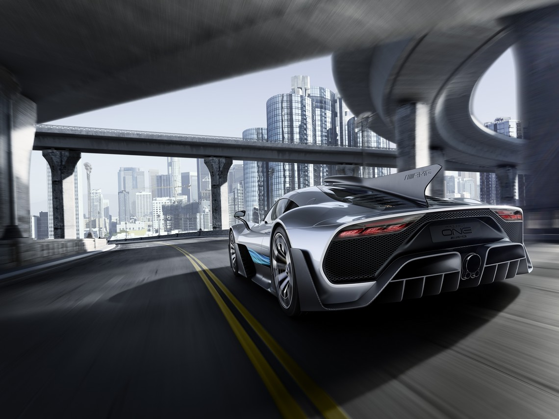 Mercedes AMG Project ONE Dietro Dinamica