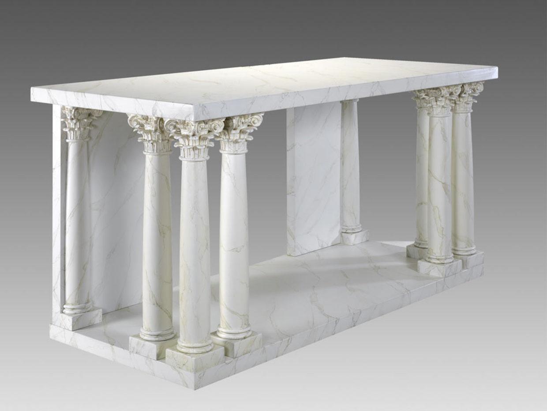 Mod. Altare laccato finto marmo