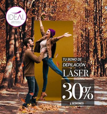 Centros Ideal: depilación láser al 30%
