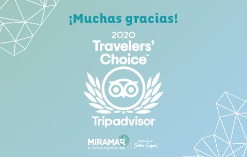 ¡Centro Comercial Miramar obtiene el premio Travellers' choice 2020 de TripAdvisor!