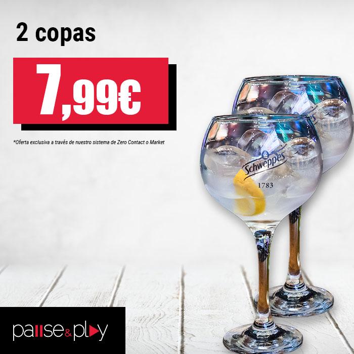 Pause&Play: 2 copas por 7,99€