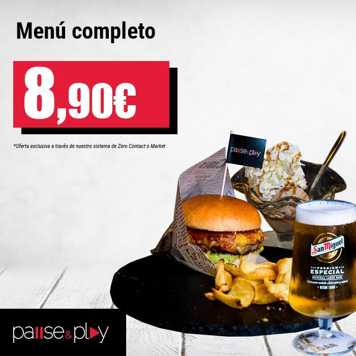 Pause&Play: Menú completo por 8,90€