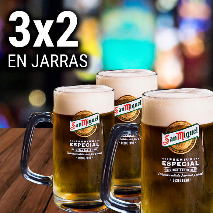 Pause & Play: 3x2 en jarras de cerveza
