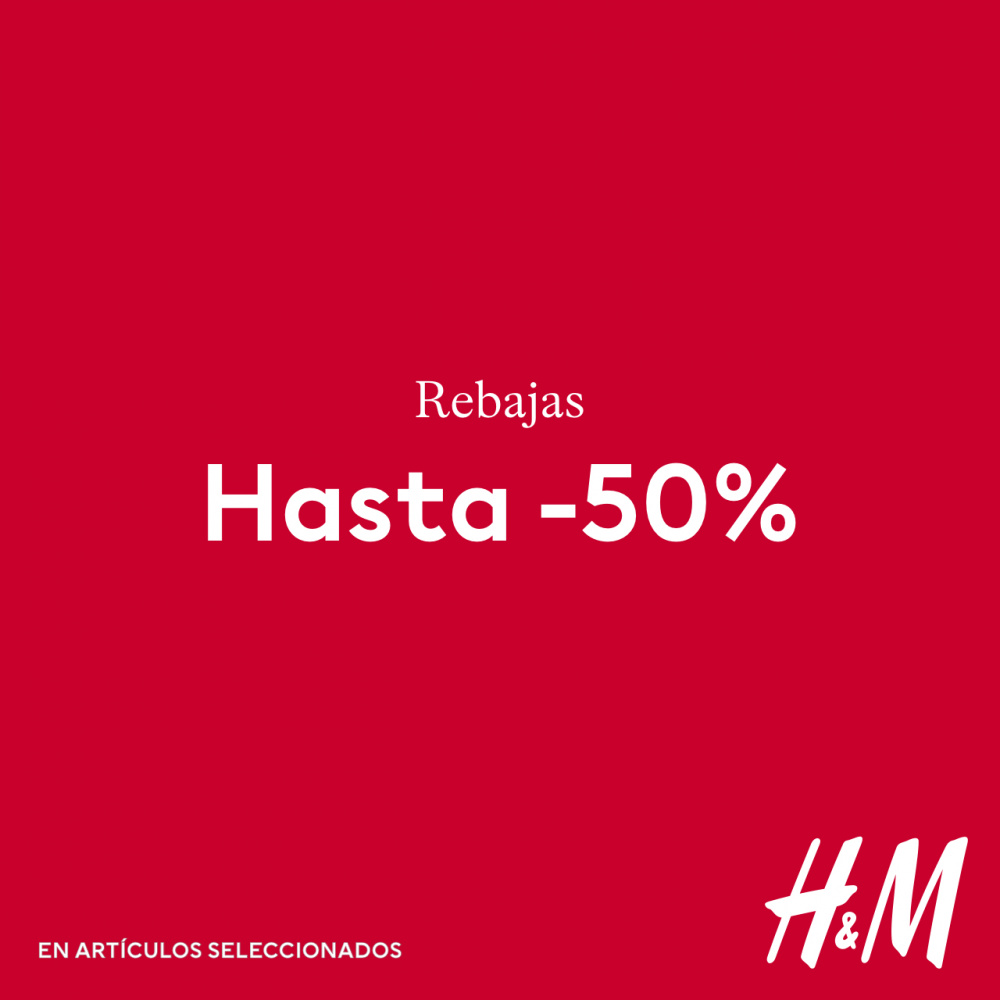 ¡Descuentos de hasta el 50% en H&M!
