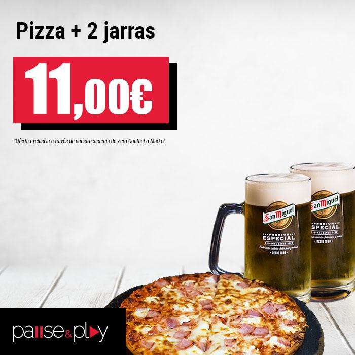 Pause&Play: Pizza + 2 jarras por 11,00€