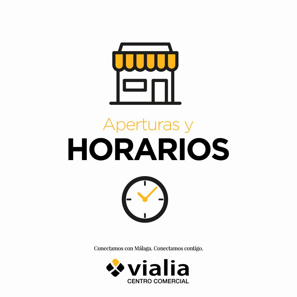 Apertura y horarios de establecimientos autorizados Vialia Málaga