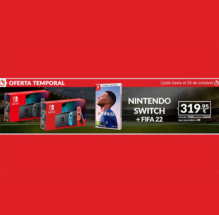 NINTENDO SWITCH + FIFA 22 POR 319,95€